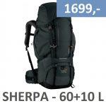 Sherpa 60+10 liter