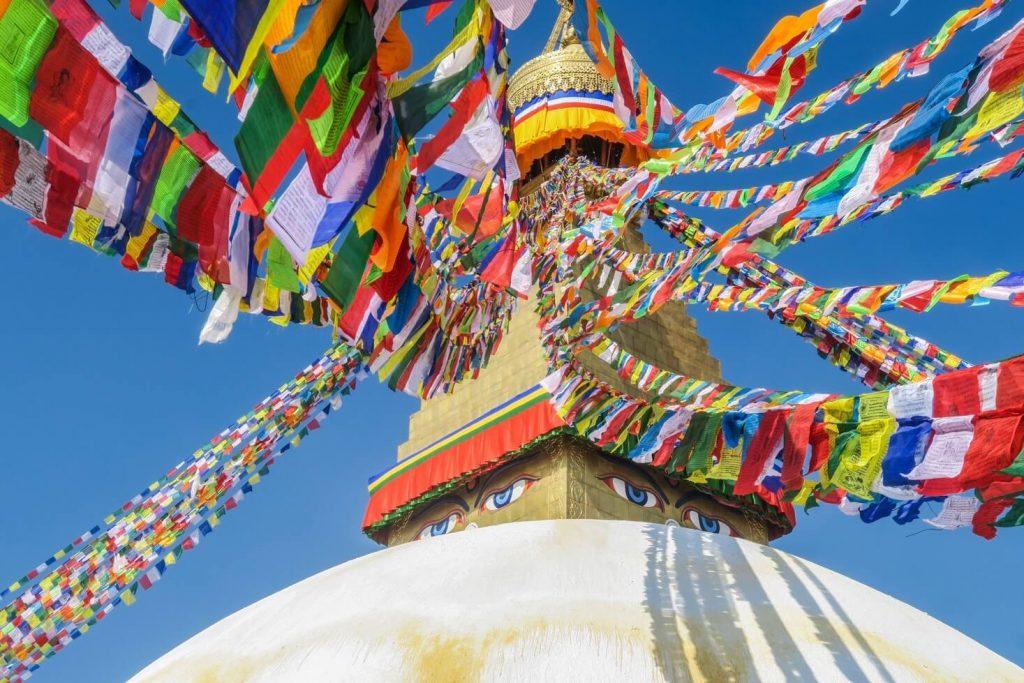 Den buddhistiske stupa - Trekking Nepal