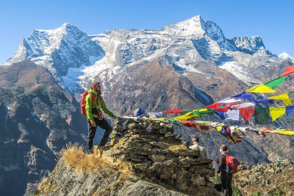 Toppen af Mount Everest