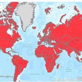 Oversigt over coronavirus i verden pr. 15-01-2021