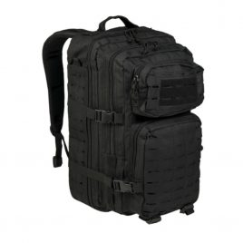 Militær rygsæk - US Black Laser Cut Assault Backpack - 36 liter