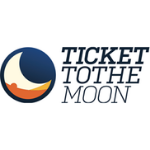 Ticket to the moon brand logo