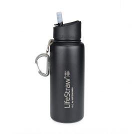 Lifestraw Go Drikkedunk - Vakuum - Rustfrit stål - Sort