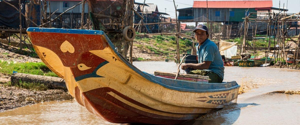 Mekong floden, seværdighed i Cambodia