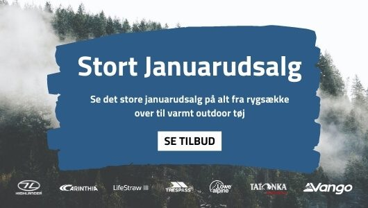 Januarudsalg outdoor og rejseudstyr - Backpackerlife mobil banner