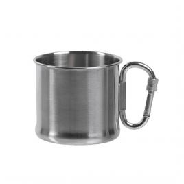 Drikkekrus – Rustfrit stål m. karabin – 500 ml