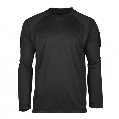 T-shirt - Langærmet - Tactical Quickdry - Sort
