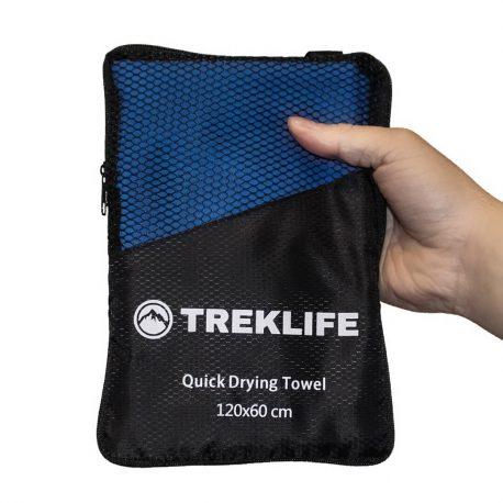 Hurtigtørrende microfiber håndklæde - 120x60 - Treklife