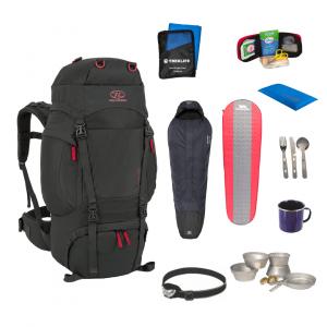 Outdoor/shelter pakke til outdoor turen - Pro inkl. rygsæk