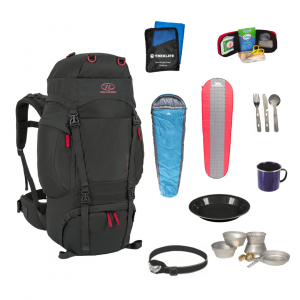 Vandre shelter pakke til outdoor turen - Pro inkl. rygsæk