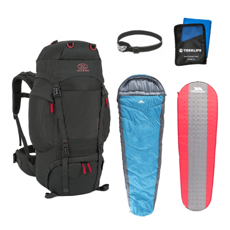 Vandre shelter pakke til outdoor turen - Essentials inkl rygsæk