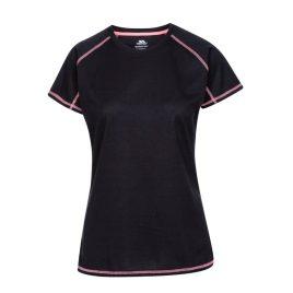 T-shirt til kvinder – Trespass Viktoria - Sort